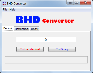 BHD Converter Main Screen